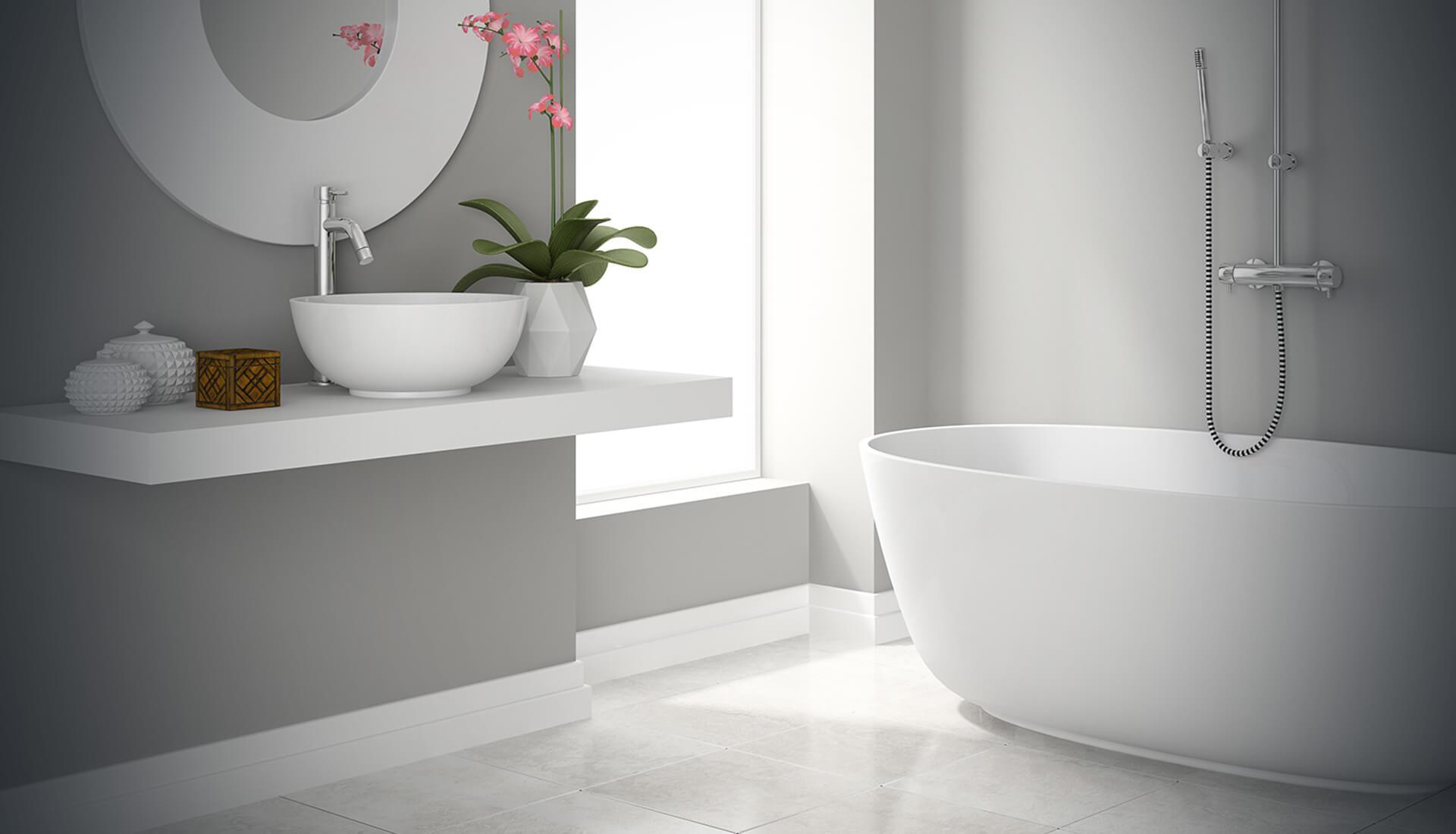 modern bathroom background